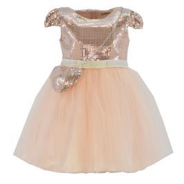 Παιδικό Φόρεμα Εβίτα 214284 Ροδακινί Κορίτσι