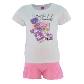 Παιδικό Σετ-Σύνολο Joyce 211144 Λευκό Κορίτσι