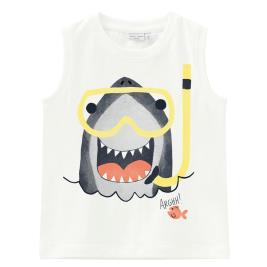 Παιδική Μπλούζα Name It 13193021 Λευκό Αγόρι