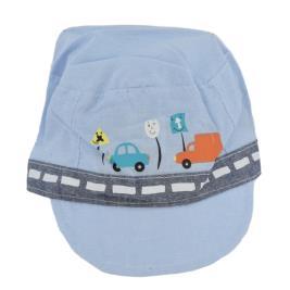 Βρεφικό Καπέλο Yo CLE-066 Σιέλ Αγόρι