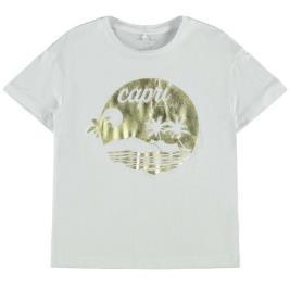 Παιδική Μπλούζα Name It 13190334 Λευκό Κορίτσι