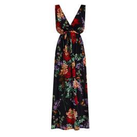 Γυναικείο Φόρεμα Celestino SH8003.8329 Μαύρο Κόκκινο