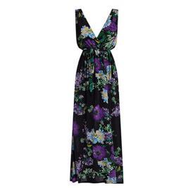 Γυναικείο Φόρεμα Celestino SH8003.8329 Μαύρο Μωβ