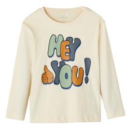 Παιδική Μπλούζα Name It 13192366 Εκρού Αγόρι
