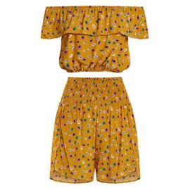 Γυναικείο Σετ Celestino SH8003.0528 Σκούρο Κίτρινο