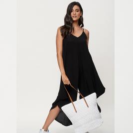 Γυναικεία Ολόσωμη Φόρμα Anel 26526 Μαύρο