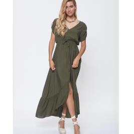 Γυναικείο Φόρεμα Anel 58622 Χακί