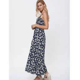 Γυναικείο Φόρεμα Anel 58689 Μπλε Φλοράλ
