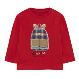 Βρεφική Μπλούζα Mayoral 11-02064-039 Κόκκινο Αγόρι