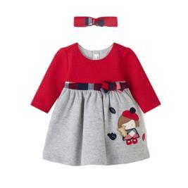 Βρεφικό Φόρεμα Mayoral 11-02894-084 Κόκκινο Κορίτσι