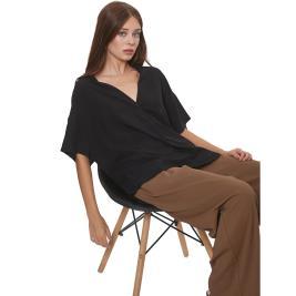 Γυναικεία Μπλούζα Anel 49691 Μαύρο