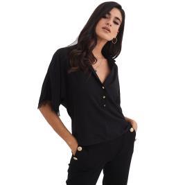 Γυναικεία Μπλούζα Anel 49705 Μαύρο