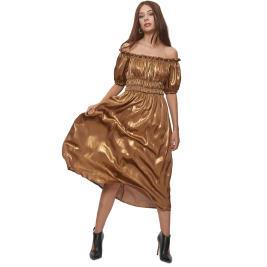Γυναικείο Φόρεμα Anel 58808 Μπρονζέ