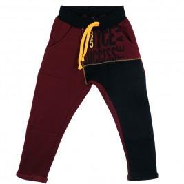 Παιδικό Παντελόνι Joyce 6721 Μαύρο Μπορντώ Αγόρι
