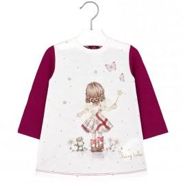 Βρεφικό Φόρεμα Mayoral 2942 Βυσσινί Κορίτσι