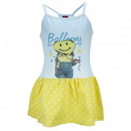 Παιδικό Φόρεμα Trax 31216 Λευκό Κίτρινο Κορίτσι