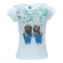 Παιδική Μπλούζα Domina 173144 Λευκό Κορίτσι