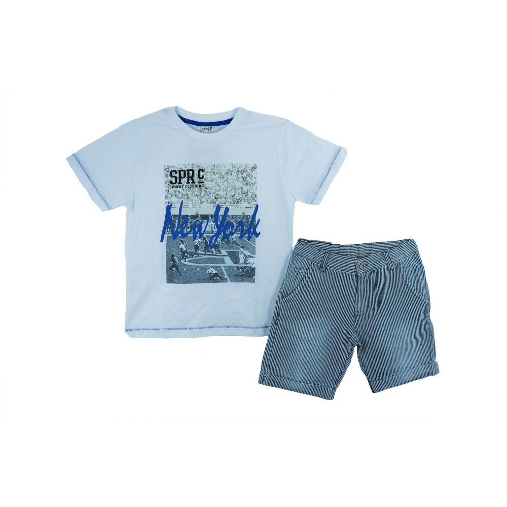 Αρχική   Παιδικά Ρούχα Παιδικό Σετ-Σύνολο Sprint 21581028 Λευκό Αγόρι.  ΟFFER. 003668. 003668 d54e6d48295