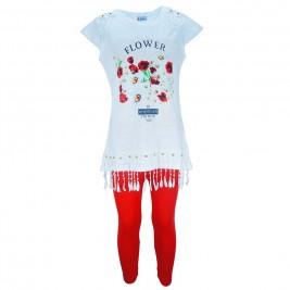 Παιδικό Σετ-Σύνολο Εβίτα 174278 Λευκό Κοκκινο Κορίτσι