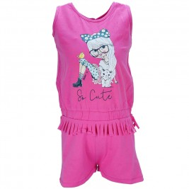 Παιδική Ολόσωμη Φόρμα Energiers 15-217315-2 Φούξια Κορίτσι