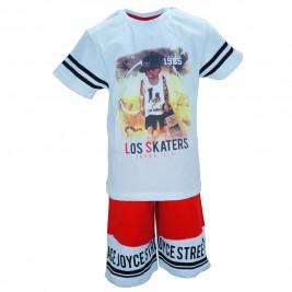Παιδικό Σετ-Σύνολο Joyce 7170 Λευκό Κόκκινο Αγόρι