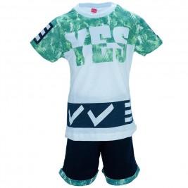 Παιδικό Σετ-Σύνολο Joyce 7379 Πράσινο Λευκό Αγόρι