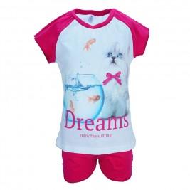Παιδική Πυτζάμα Dreams 17405 Λευκό Κορίτσι