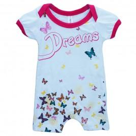 Βρεφική Πυτζάμα Dreams 17021 Λευκό Κορίτσι