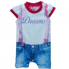 Βρεφική Πυτζάμα Dreams 17029 Λευκό Κορίτσι