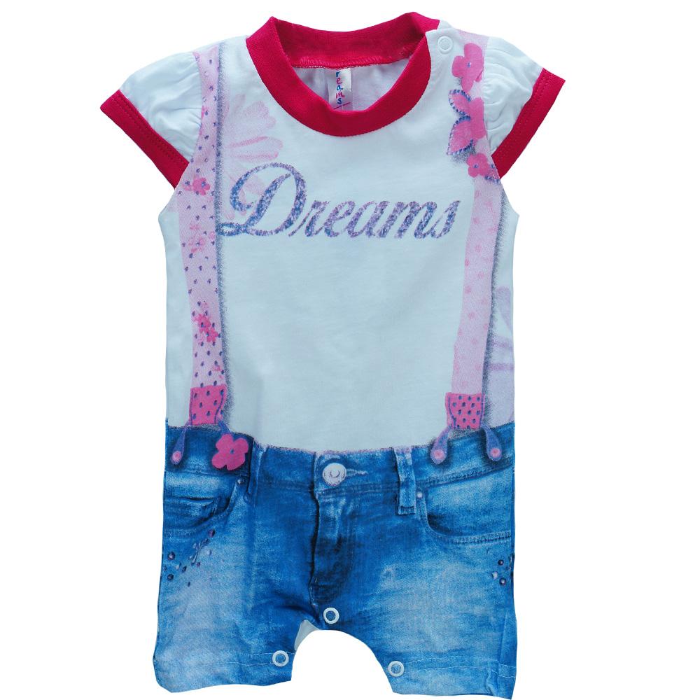 Βρεφική Πυτζάμα Dreams 17029 Λευκό Κορίτσι 87070a36549