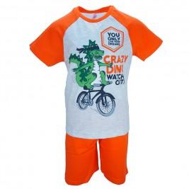 Παιδική Πυτζάμα Dreams 17103 Πορτοκαλί Αγόρι