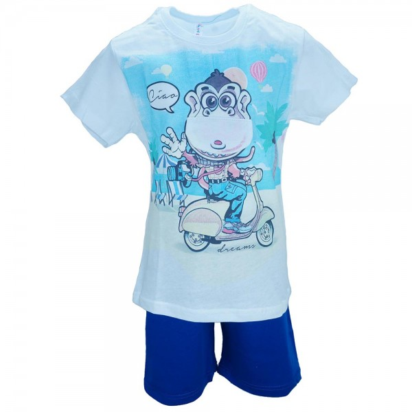 Παιδική Πυτζάμα Dreams 17105 Μπλε Αγόρι f44ed5a89f1