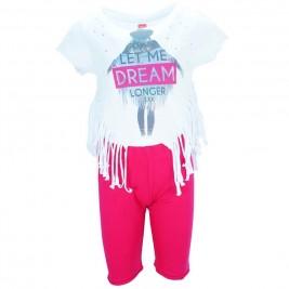 Παιδικό Σετ-Σύνολο Joyce 7237 Λευκό Κορίτσι