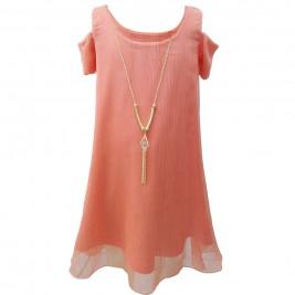 Παιδικό Φόρεμα Chief 4026 Ροζ Κορίτσι