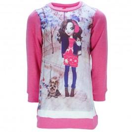 Παιδικό Φόρεμα Joyce 7482 Ροζ Εμπριμέ Κορίτσι