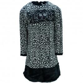 Παιδικό Φόρεμα Εβίτα 175045 Μαύρο Λέοπαρ Κορίτσι
