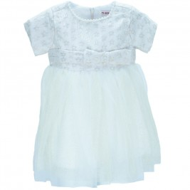 Βρεφικό Φόρεμα Εβίτα 175507 Εκρού Κορίτσι