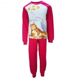 Παιδική Πυτζάμα Dreams 17912 Λευκό Φούξια Κορίτσι