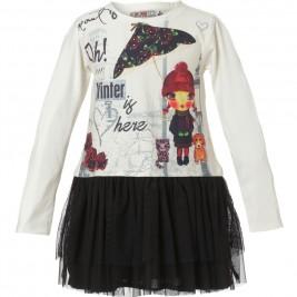 Παιδικό Φόρεμα Energiers 15-117316-7 Εκρού Κορίτσι