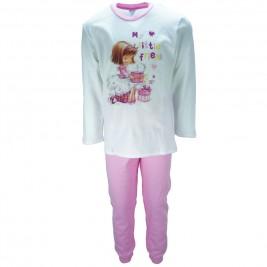 Παιδική Πυτζάμα Pretty Baby 69125 Εκρού Ροζ Κορίτσι