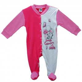 Βρεφική Πυτζάμα Pretty Baby 35713 Ροζ Λευκό Κορίτσι