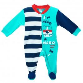Βρεφική Πυτζάμα Pretty Baby 35724 Σμαραγδί Μπλε Αγόρι
