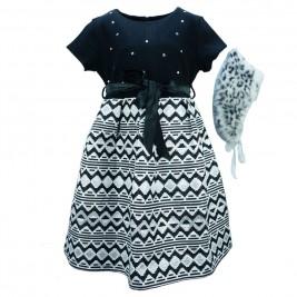 Παιδικό Φόρεμα Εβίτα 175038 Μαύρο Κορίτσι