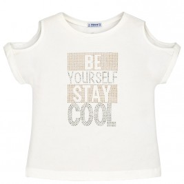 Παιδική Μπλούζα Mayoral 6016-048 Εκρού Κορίτσι