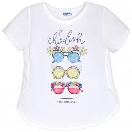 Παιδική Μπλούζα Mayoral 6048-046 Λευκό Σιέλ Κορίτσι