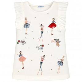 Παιδική Μπλούζα Mayoral 6064-020 Εκρού Κορίτσι