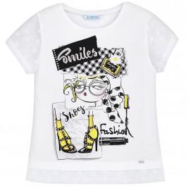 Παιδική Μπλούζα Mayoral 6028-019 Λευκό Μαύρο Κορίτσι