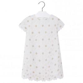 Παιδικό Φόρεμα Mayoral 3928-060 Εκρού Κορίτσι