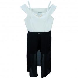 Παιδική Ολόσωμη Φόρμα Εβίτα 186070 Εκρού Μαύρο Κορίτσι
