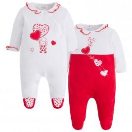 Βρεφικό Ολόσωμο Φορμάκι Pretty Baby 32871 Κόκκινο Λευκό Κορίτσι bc0e9266a73